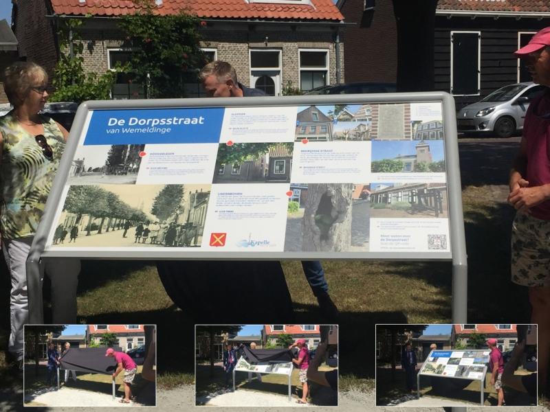 Toeristisch informatiebord Dorpsstraat