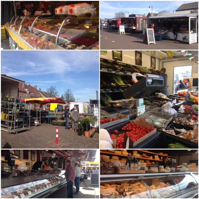 Zaterdagmarkt op het dorpsplein