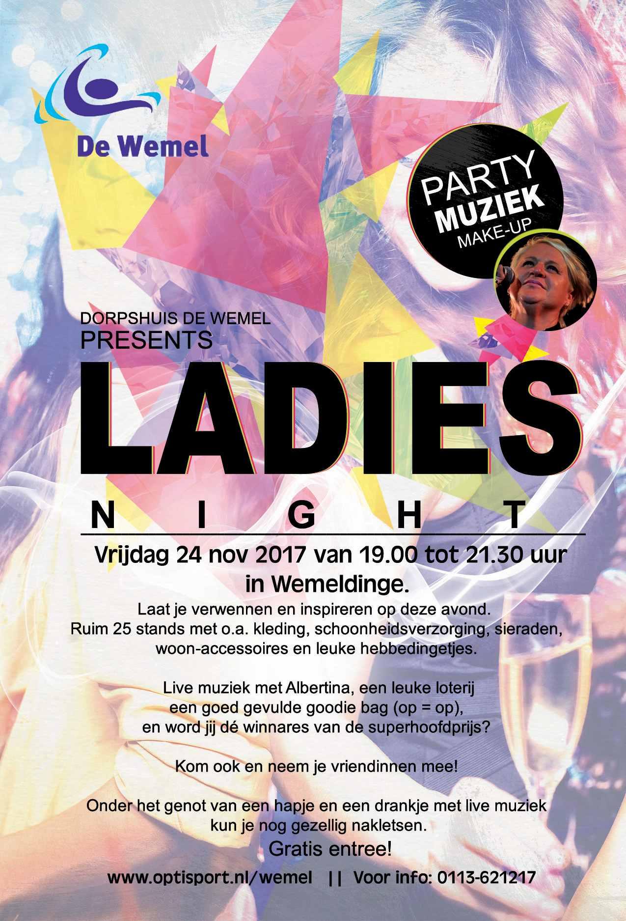 Ladies Night in Dorpscentrum de Wemel