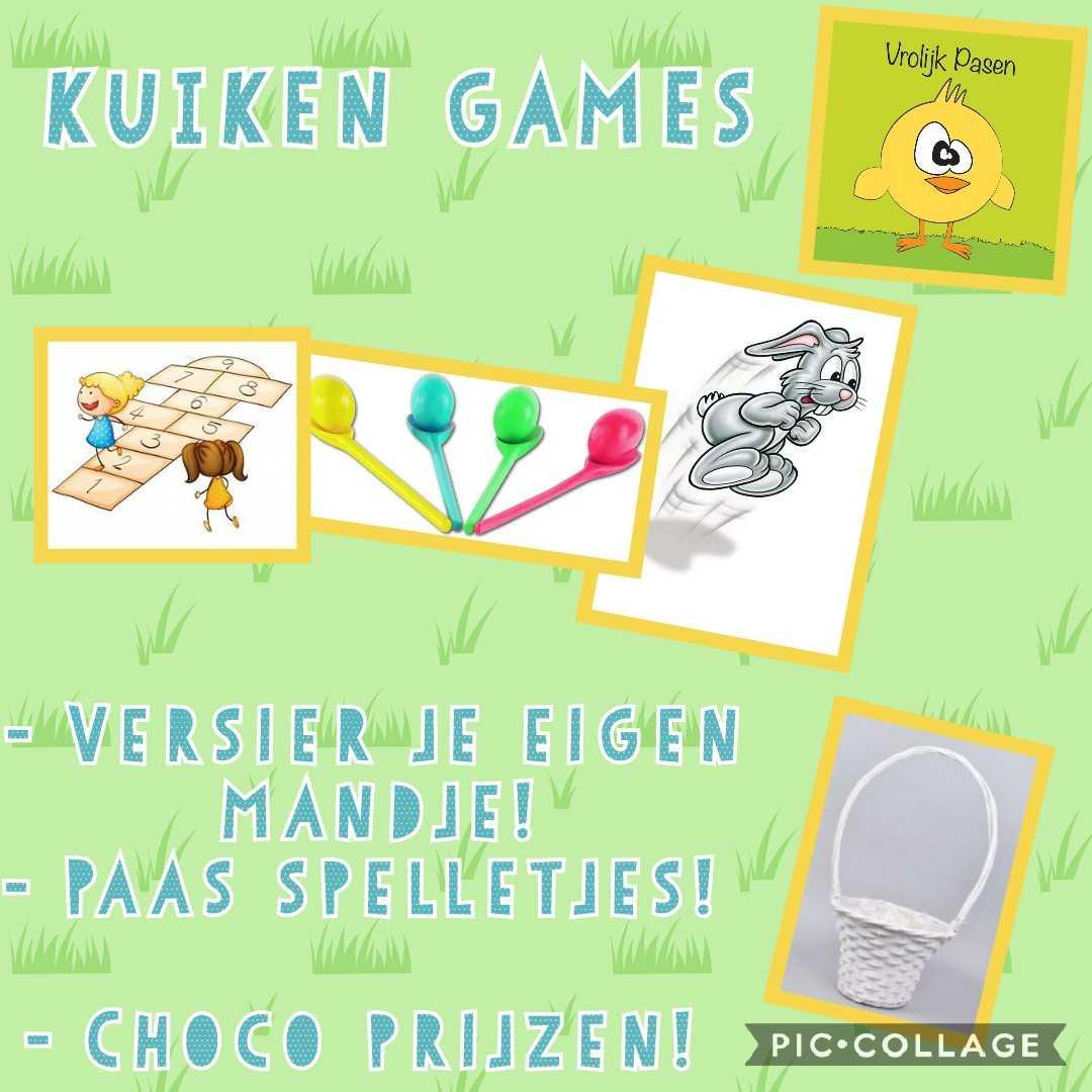 Kinder workshop! -  Knutselen - Paas spelletjes ( kuiken games)