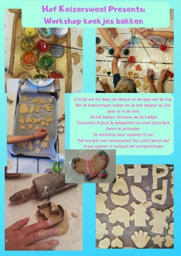 Workshop koekjes bakken